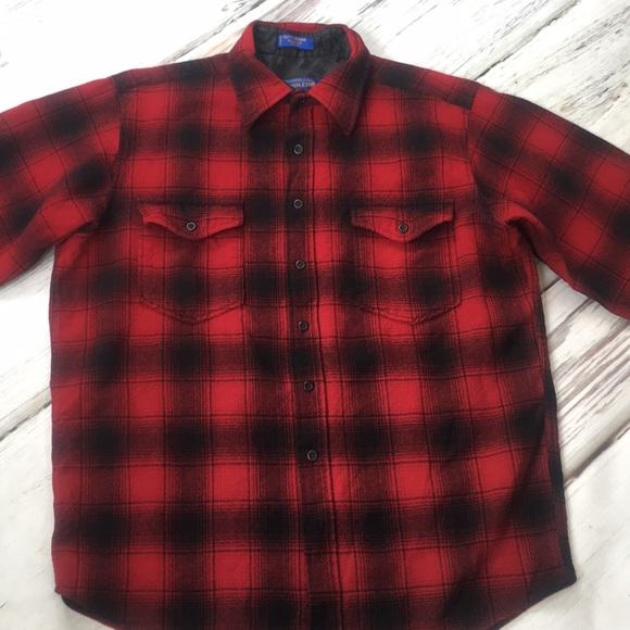f9b04894aad1 Pendleton Shirts   Mens Wool Outdoorsman Work Shirt Large   Poshmark